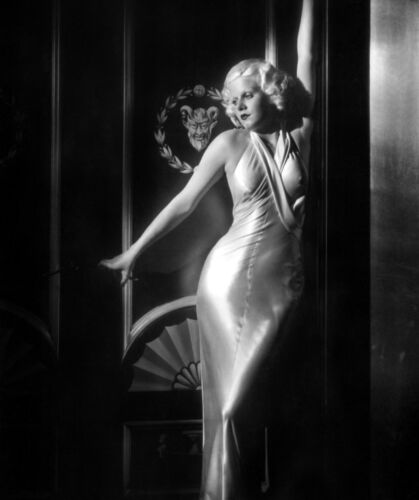 Jean Harlow in sexy slinky dress 1933 candid 8x10 rare photo
