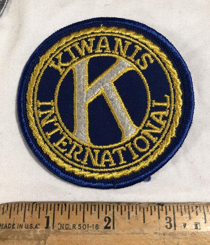 "Vintage Kiwanis Service Club International Embroidered Patch K Logo 3"" Round"