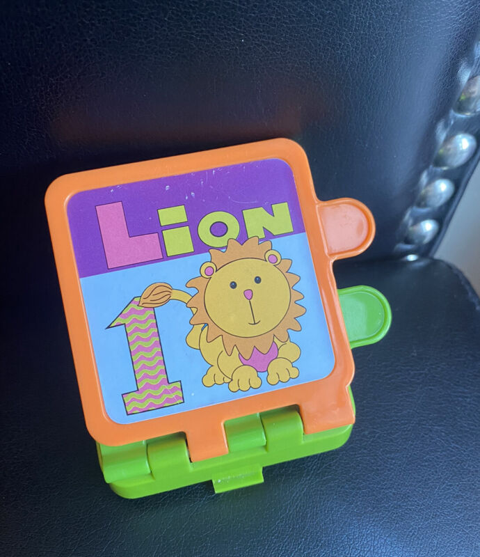 Evenflo Used Exersaucer Circus Lion Tiger Bear Monkey FLIP BOOK Replacement Part