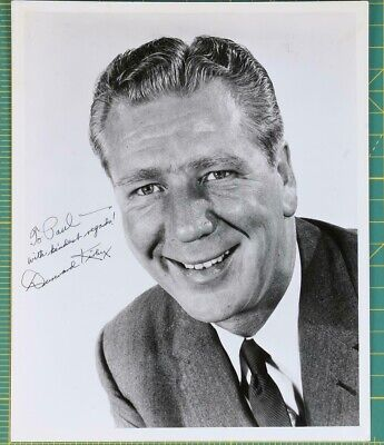 Vintage Television And Radio Entertainer Durward Kirby Autographed Photo