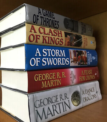 Game of Thrones Set, 1-5, George R R Martin, Book Club Ed Hardcover (BCE) ASOIAF