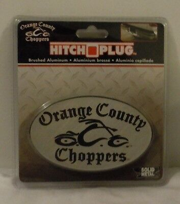 Orange County Choppers Hitch Plug ~ Solid Metal ~ Brushed Aluminum