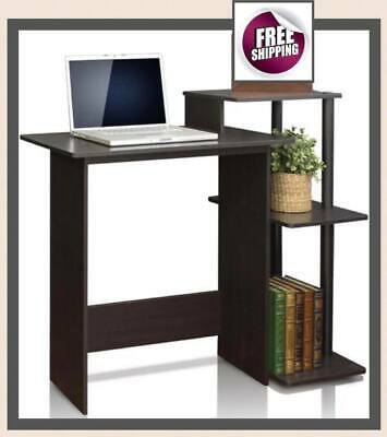 Computer Laptop Table Desk Notebook Shelves Storage Office Home Study Modern New