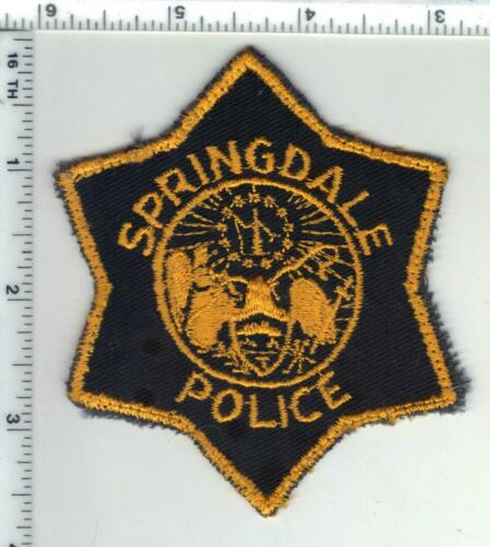 Springdale Police (Arkansas) 1st Issue Shoulder Patch