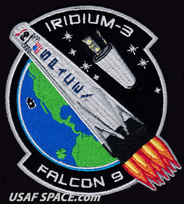 New Iridium 3   Spacex Original Falcon 9 F 9 Vafb Launch Satellite Mission Patch