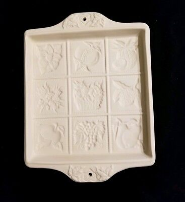 Workshops Of Gerald E. Henn 9 Square Fruit And Floral Cookie Mold