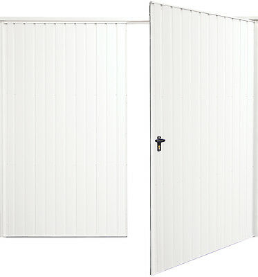 White side hinged garage doors vertical 7070 New .