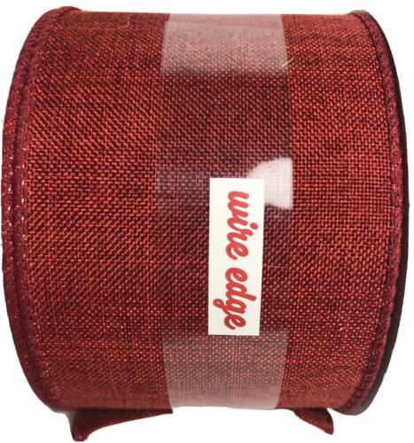 Maker s Holiday Ribbon 2.5 x25 -Red Solid, Wired Christmas New - $10.00