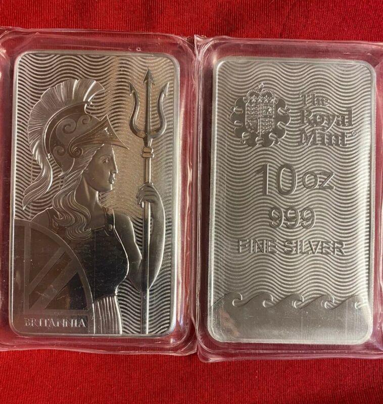 Royal Mint 10 Oz Britannia Silver Bar