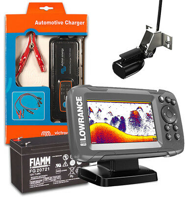Lowrance Hook2-4x Echolot Fishfinder Action Pack Farb-display Fishfinder