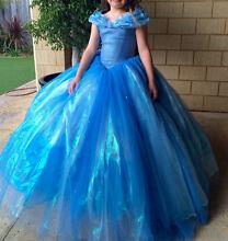 Girls Cinderella Costume Dress up movie deluxe Halloween  Halls Head Mandurah Area Preview