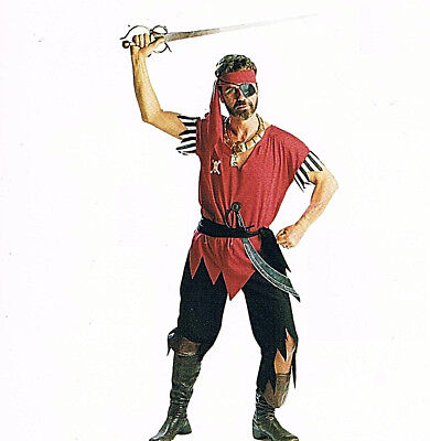 Lot of 4 Pirate Man Std Halloween Costumes New Buccaneers Group Crew Cutthroats