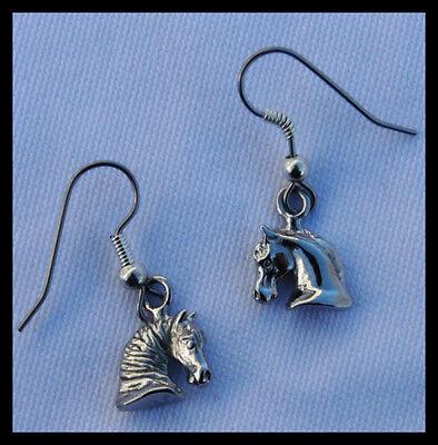 Horse Jewelry Horse Earrings Horsehead Earrings Equine Friesian