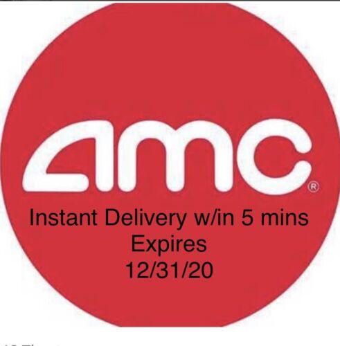 1 AMC Theaters Black MOVIE TICKET, 1 Large Drink, 1 Large POPCORN Exp 12/2020 - $7.48