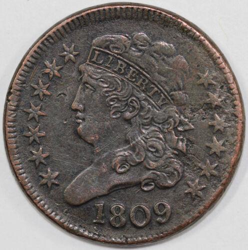 1809 1/2c C-4 Circle in O Classic Head Half Cent