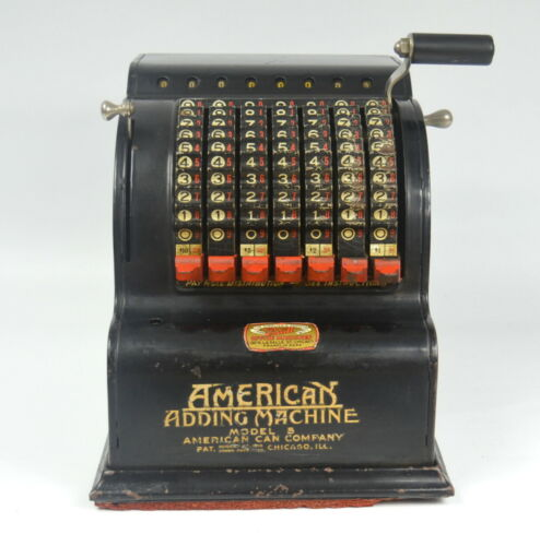 Antique AMERICAN ADDING MACHINE Model 5 By American Can Company* Made in U.S.A.