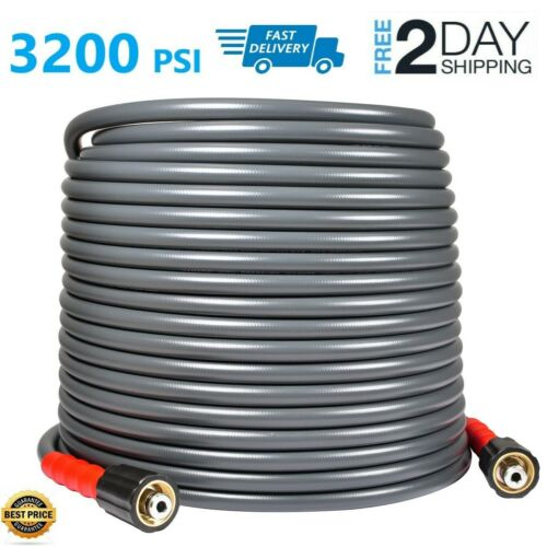 "YAMATIC 3200 PSI High Pressure Washer Hose 1/4"" 50 FT M22-14mm Flexible&Non-Kink"