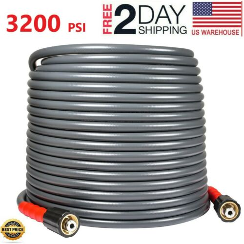 "YAMATIC 50 FT 3200 PSI Pressure Washer Hose 1/4"" M22-14mm Flexible&Wear Plus"