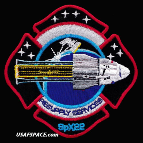 Authentic SPX-22 - SPACEX CRS-22 - NASA COMMERCIAL ISS RESUPPLY AB Emblem PATCH