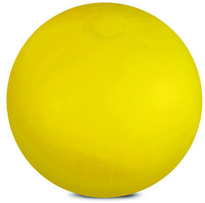 INFLATABLE YELLOW BEACH BALL BLOW UP GARDEN FUN TOY NOVELTY POOL GAME VOLLEY NEW