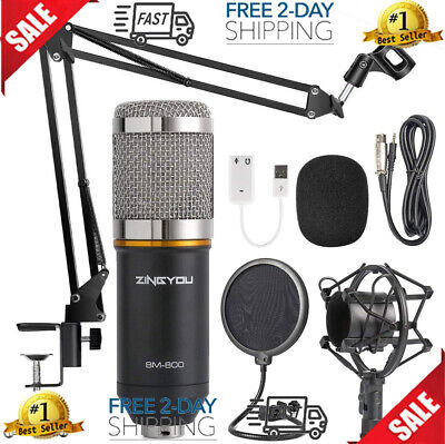 HOT TWITCH MIC STREAMING MICROPHONE PODCAST EQUIPMENT KIT YOUTUBE CHANNEL (Best Mic For Youtube)
