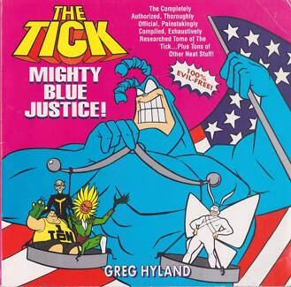 The Tick Mighty Blue Justice! 90's Book