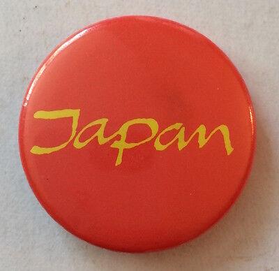 VERY RARE Vintage 1980s JAPAN band promo pinback David Sylvian button pin badge