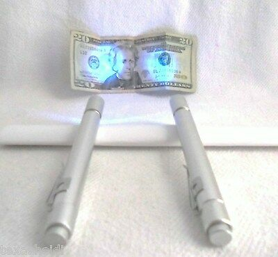 Led Blue Flashlight Pen Light Lot Of 2