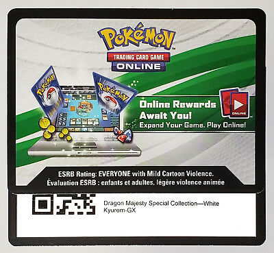 Pokemon - 2x White Kyurem GX - SM141 - Online code - not played- By email - Fast