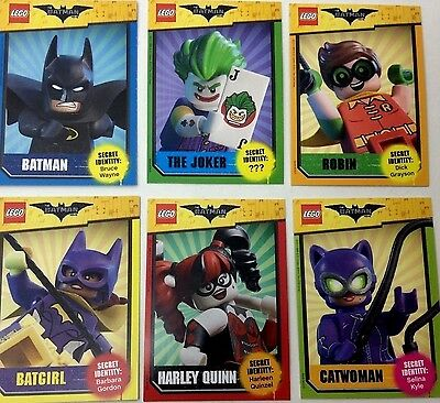 2017 Lego Batman MOVIE Promo COMPLETE 6 CARD SET BARNES AND NOBLES EVENT