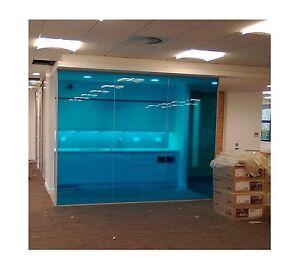 transparent colourful window film self adhesive optically clear blue tint ebay. Black Bedroom Furniture Sets. Home Design Ideas