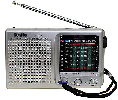Kaito KA228 Pocket-size Portable 9 Band AM FM Shortwave
