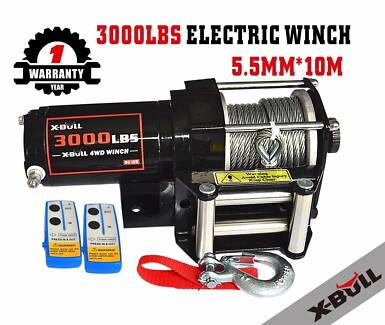 12V  Electric Winch Wireless Steel Cable for Boat/4WD/ATV
