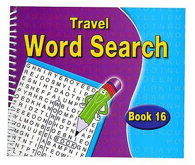A5 Spiral Bound Word Search Travel Books Kids Adults 170 Puzzles Book 16 - 3090 - Adult Word Search