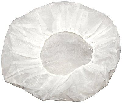 "Disposable Non-woven Bouffant Cap Hair Net Cap Elastic Free 21"" Size (200 Pcs)"