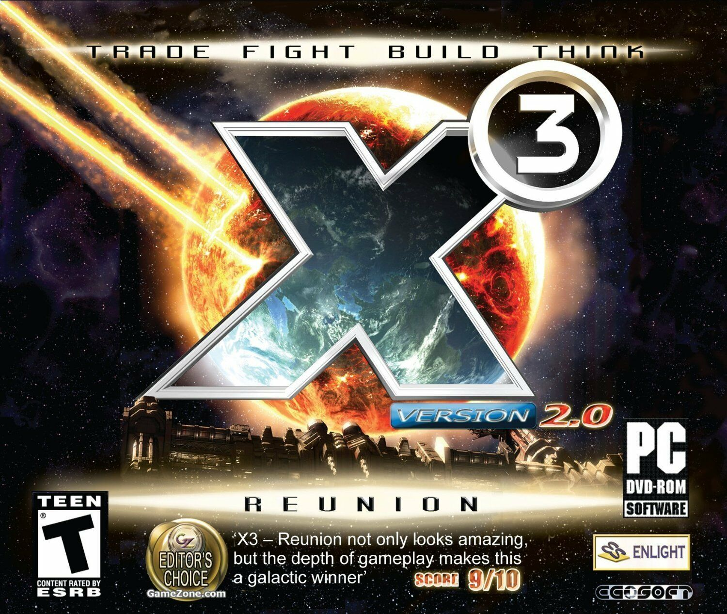 Computer Games - X3 The Reunion 2.0 PC Game Window 10 8 7 XP Computer space simulation spacecraft
