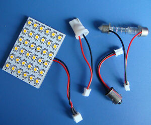 10pcs-12V-Dome-Bulb-36-1210SMD-LED-Warm-White-Adapter-BA9S-T10-Festoon-31-44mm