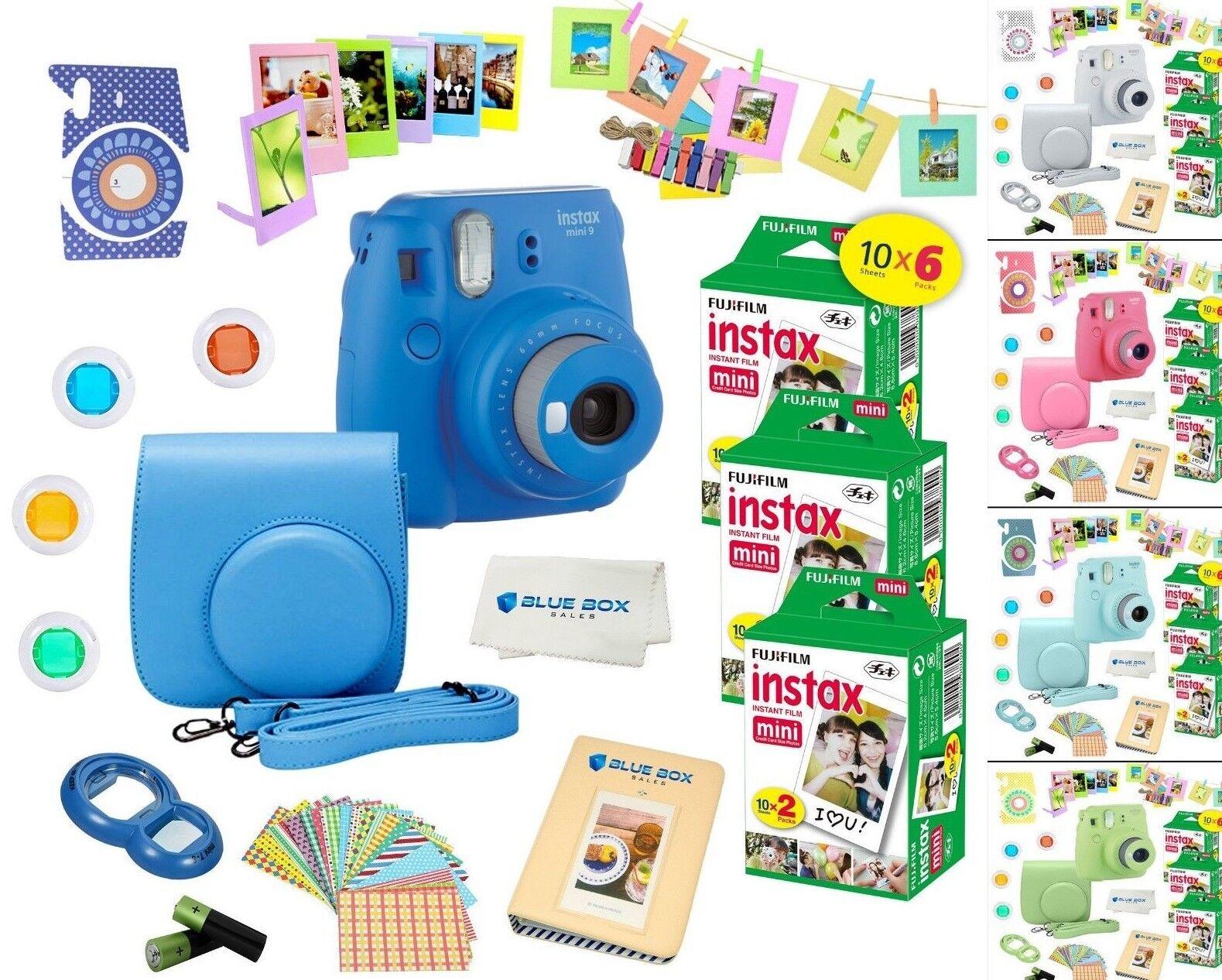 Fujifilm Instax Mini 9 Instant Camera 60 Fuji Film SHEETS pl