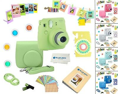 Fujifilm Instax Mini 9 Camera + 12 PC Accessory Kit  for Fujifilm Instant Camera