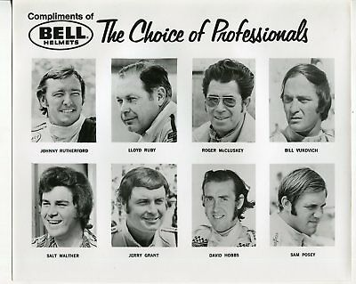 USAC Indy Car Drivers-Bell Helmets-Johnny Rutherford-8x10-Racing Photo, used for sale  Shipping to India