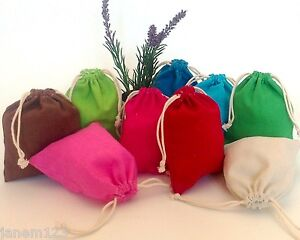 10-Small-Plain-Colour-Cotton-Drawstring-Bag-10-x-13cm-Gift-bags-Party-Bag-17