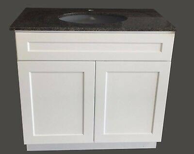 "36"" Wide x 21"" Deep New White Shaker Single-sink Bathroom Vanity Base Cabinet"