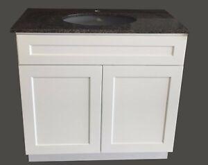 24  Wide x 21  Deep New White Shaker Single-sink Bathroom Vanity Base Cabinet & Bathroom Base Cabinet: Vanities | eBay