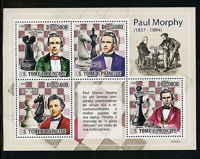 St. Thomas & Prince Scott #2162 MNH SHEET Paul Morphy Chess Champion CV$13+