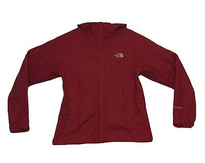The North Face Jacket HyVent DT Rain Hooded Outerwear Coat Red Women's Small