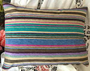 DESIGNERS GUILD ASOLO FABRIC BOLSTER COVER COLOUR MARINE 17X13