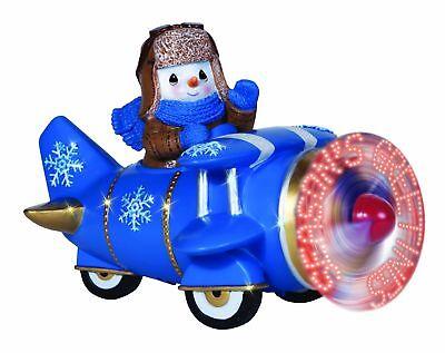 Precious Moments Snowman Airplane Plane LED Season's Greetings Figurine Holiday