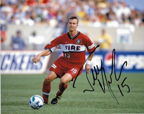 Chicago Fire Jesse Marsch  Autographed Signed MLS 8x10 COA B