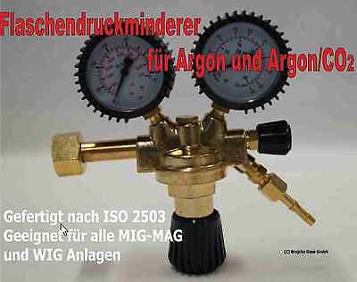 Druckminderer Argon CO2 Schutzgas MIG MAG WIG Neu Druckregler Gasschlauch