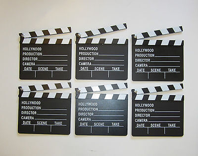 6 NEW MOVIE DIRECTOR'S CLAPBOARD PROP HOLLYWOOD CLAPPER CHALKBOARD PARTY DECOR - Movie Director Clapboard